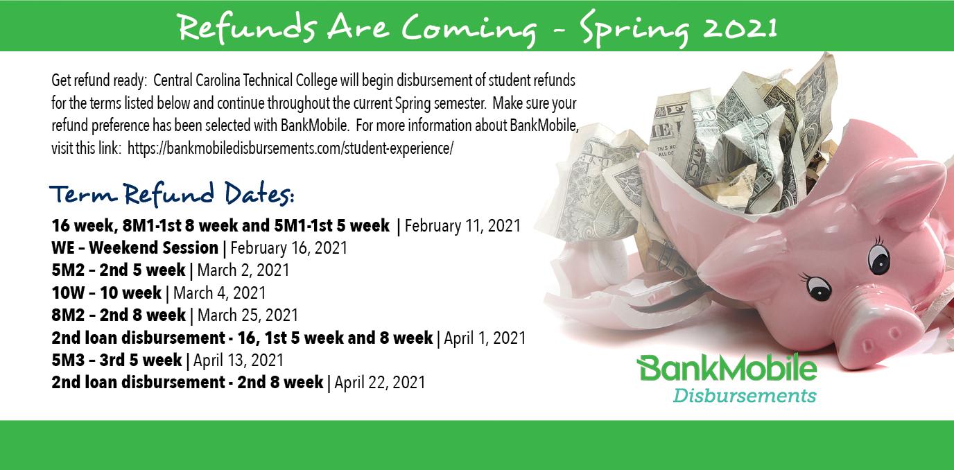 spring 2021 refund dates