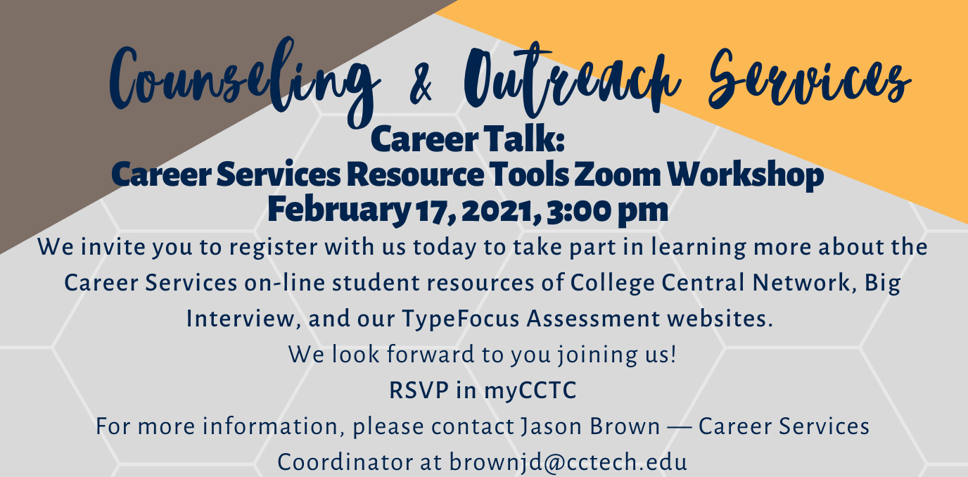 Career Talk: Career Services Resource Tools Workshop