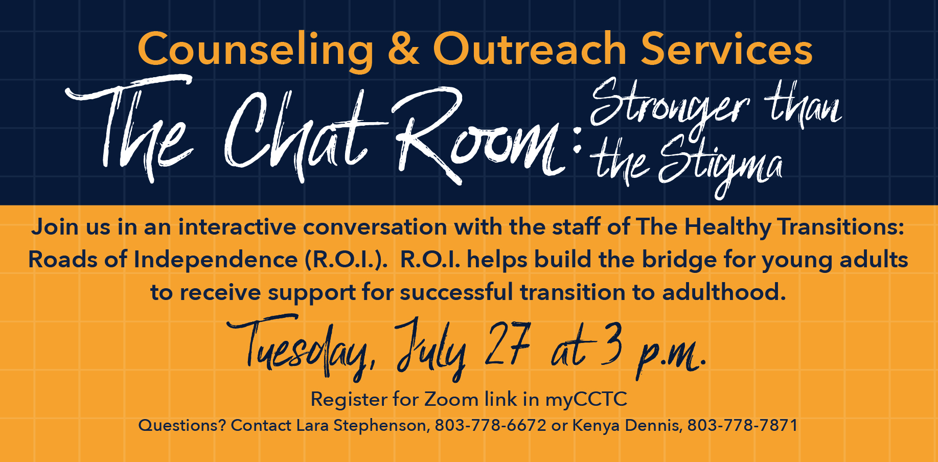 The Chat Room: Stronger than the Stigma
