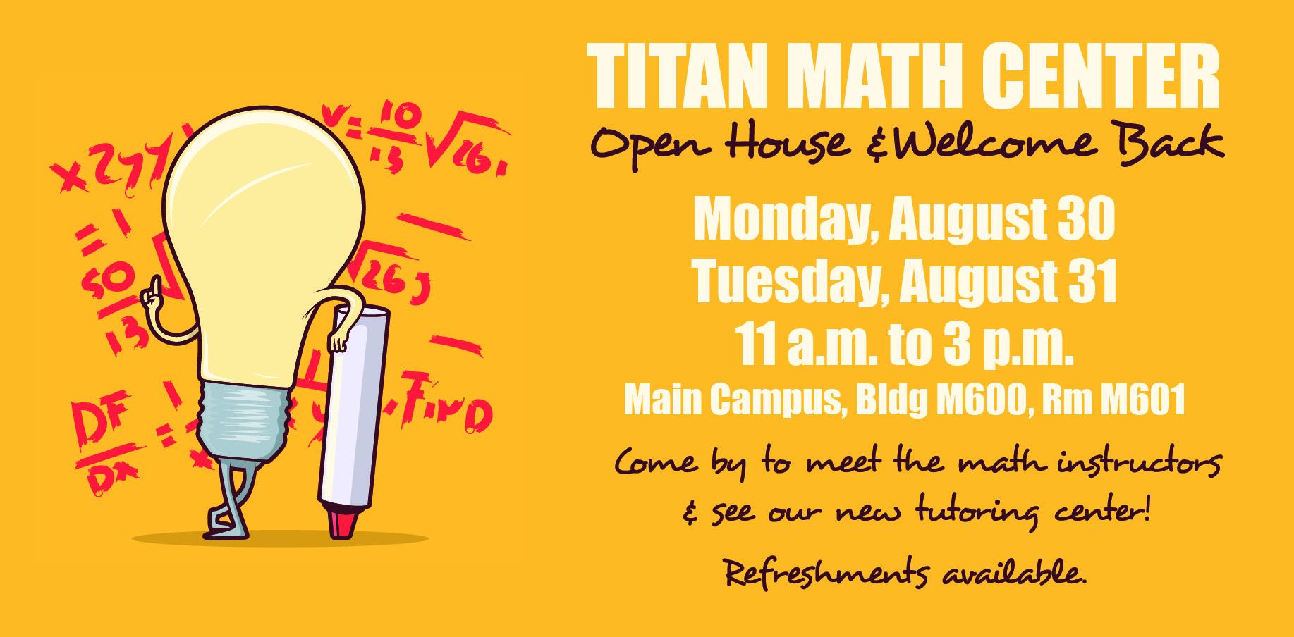 titan math center open house